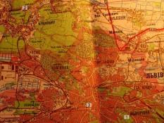 Карта від факульету до Брюхович РЛГС