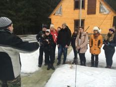 Польова лекція про методику дослідження структури снігового покрову від доц. Яворського Б. І.