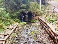 Каптований витік потоку, що дренує озеро Синевир